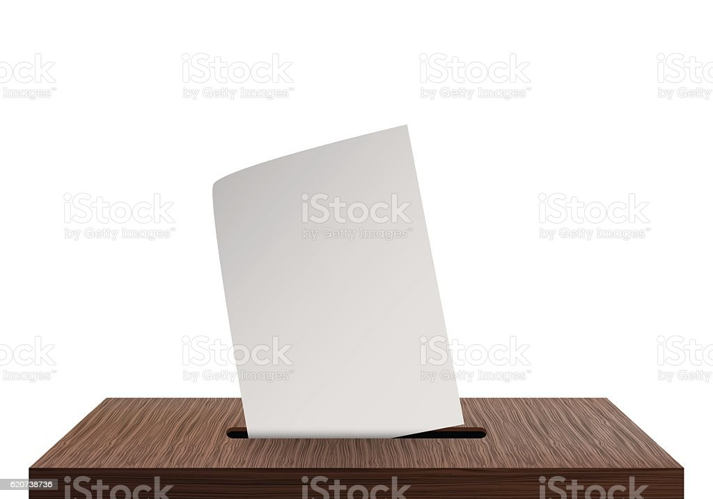 Ballot box vector art illustration