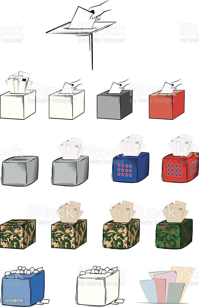 Ballot Box Vector royalty-free stock vector art