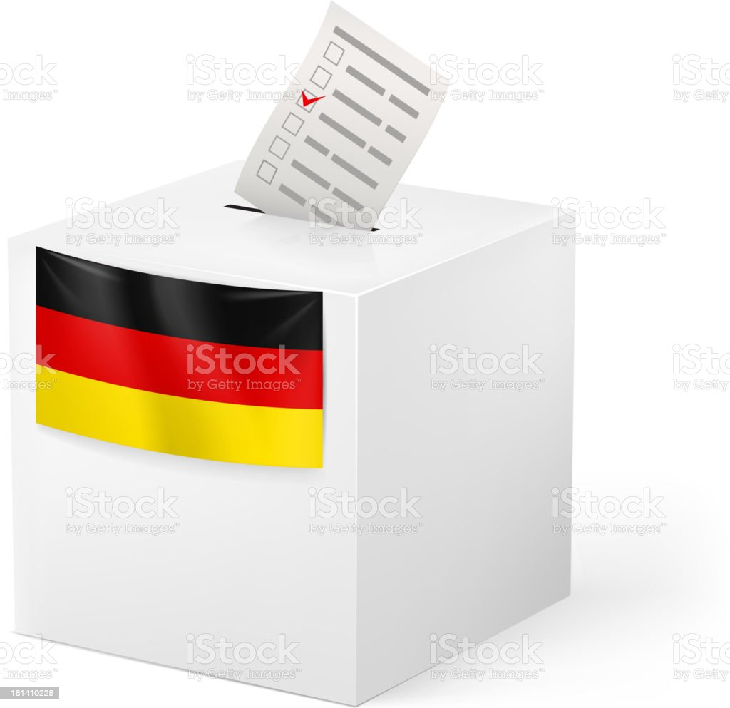 Ballot box with voicing paper. Great Britain. royalty-free stock vector art