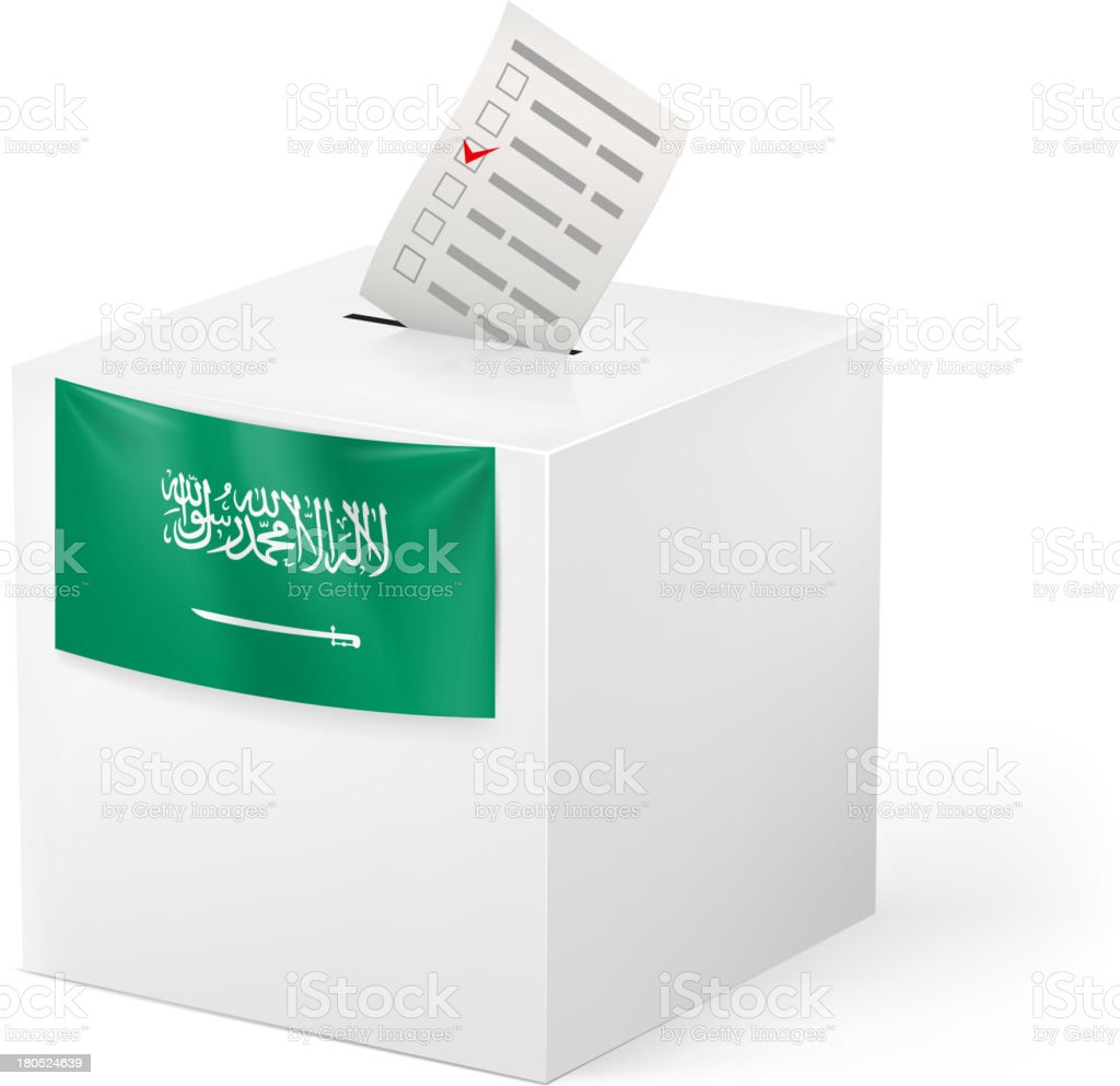Ballot box with voicing paper. Israel. vector art illustration