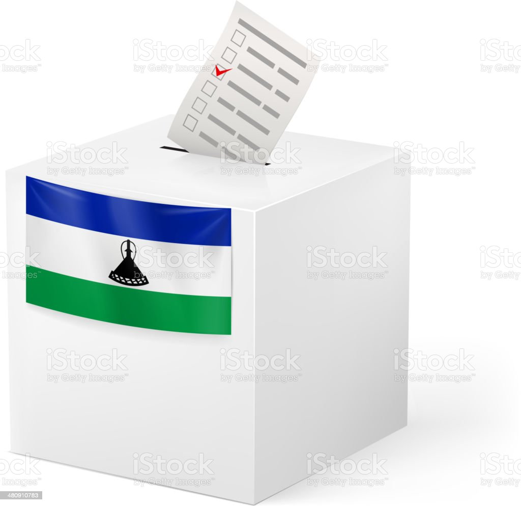 Ballot box with voting paper. Algeria vector art illustration
