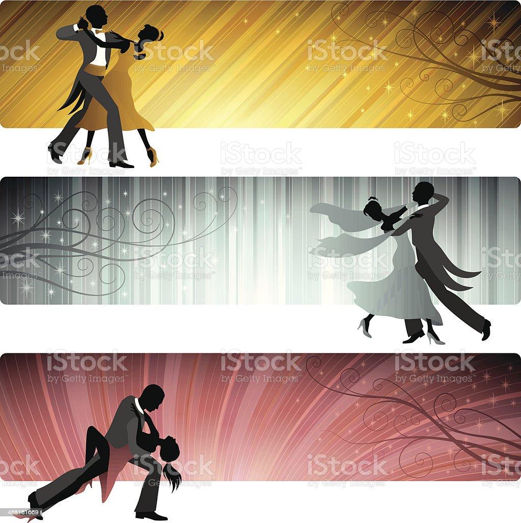 Ballroom Dance Banners vector art illustration