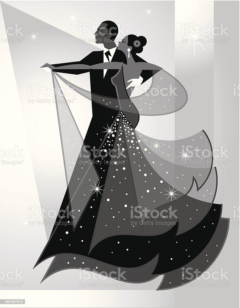 Ballroom Dancers royalty-free stock vector art