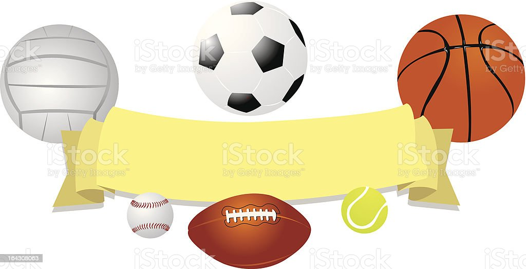 Balls Banner vector art illustration