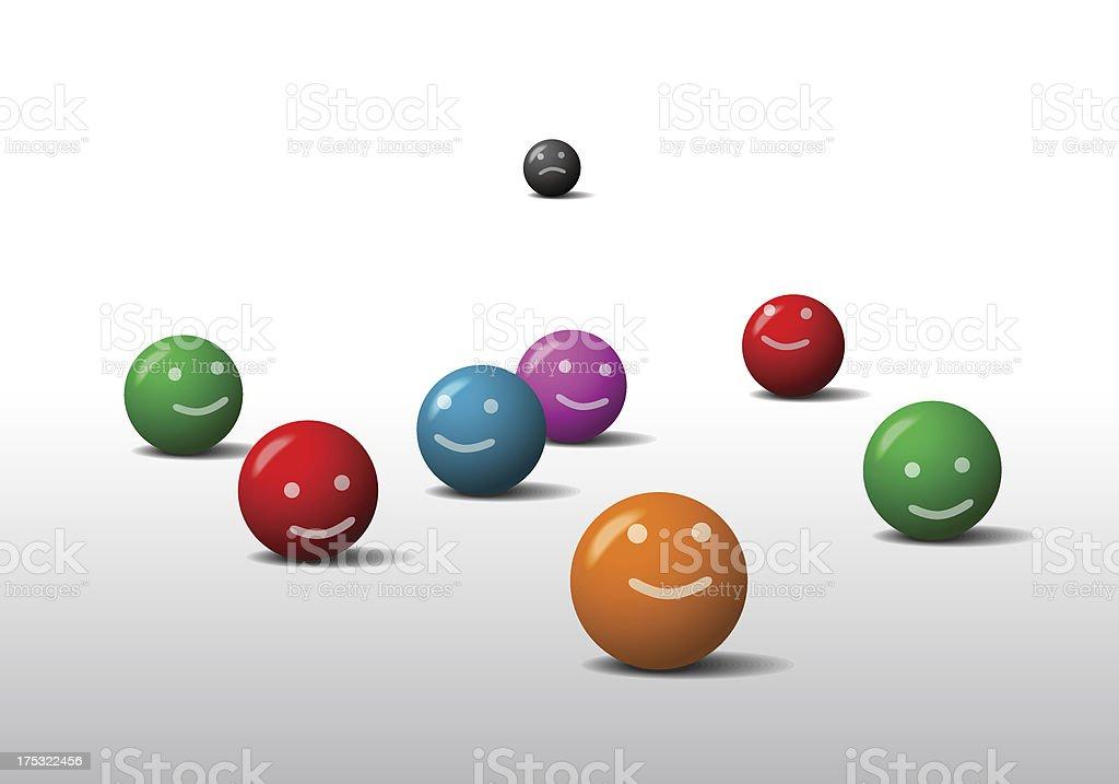 Balls emoticons royalty-free stock vector art