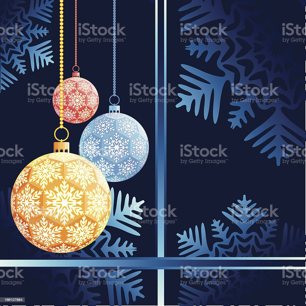 Balls for a decoration. Christmas. royalty-free stock vector art