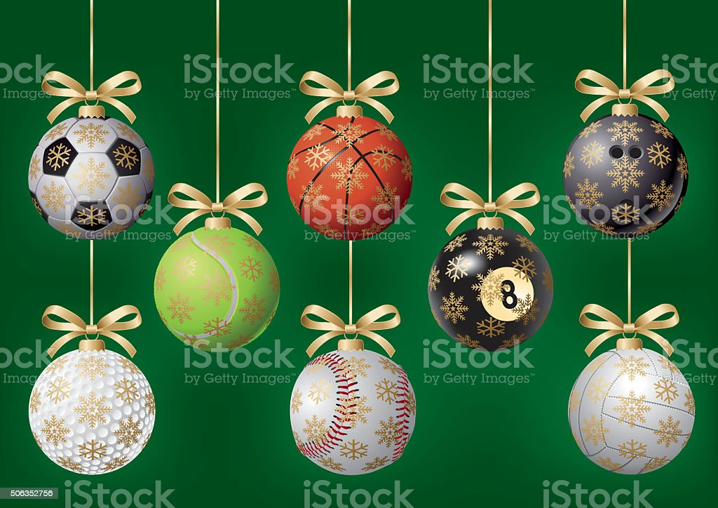 Balls for Christmas tree vector art illustration