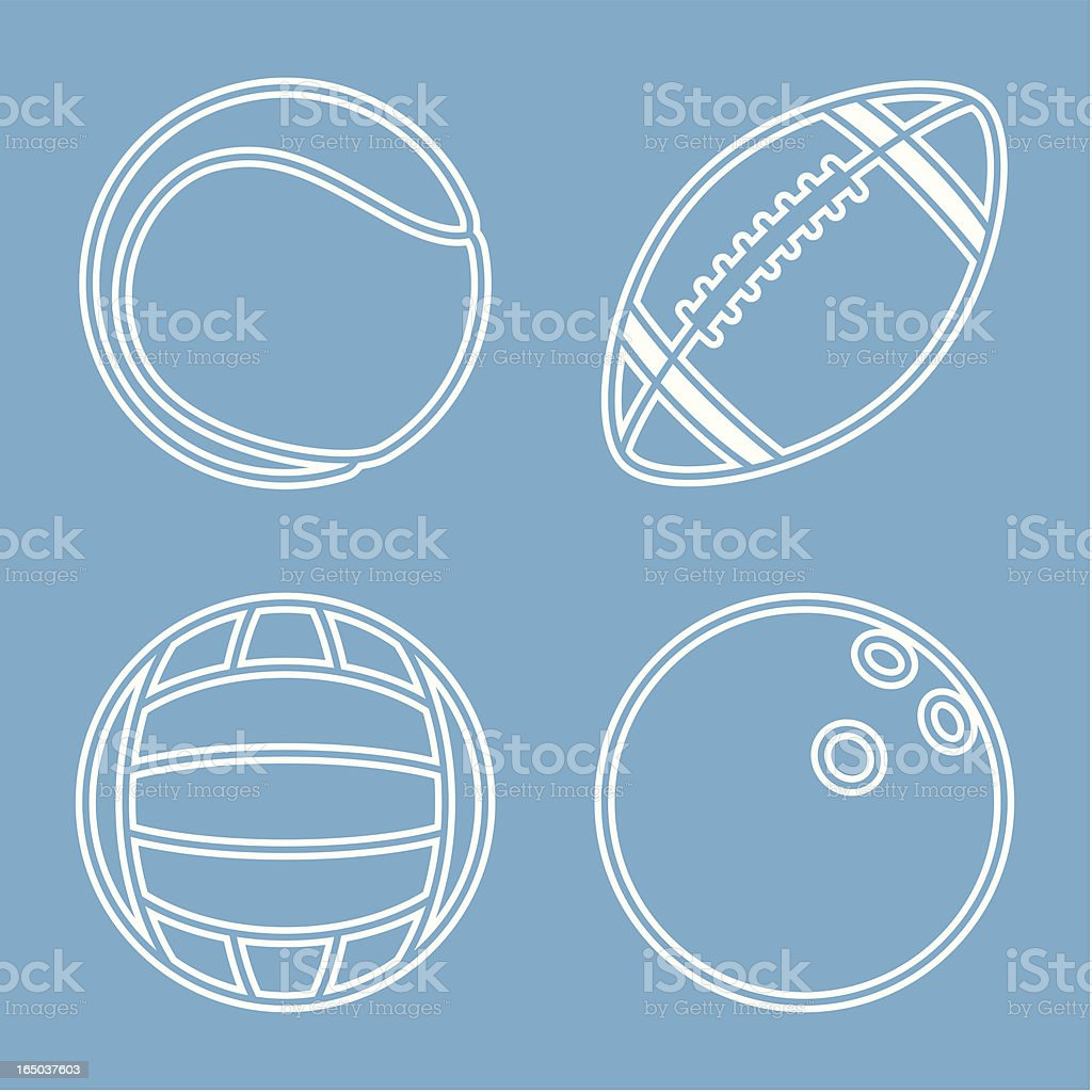 Balls of Sports royalty-free stock vector art