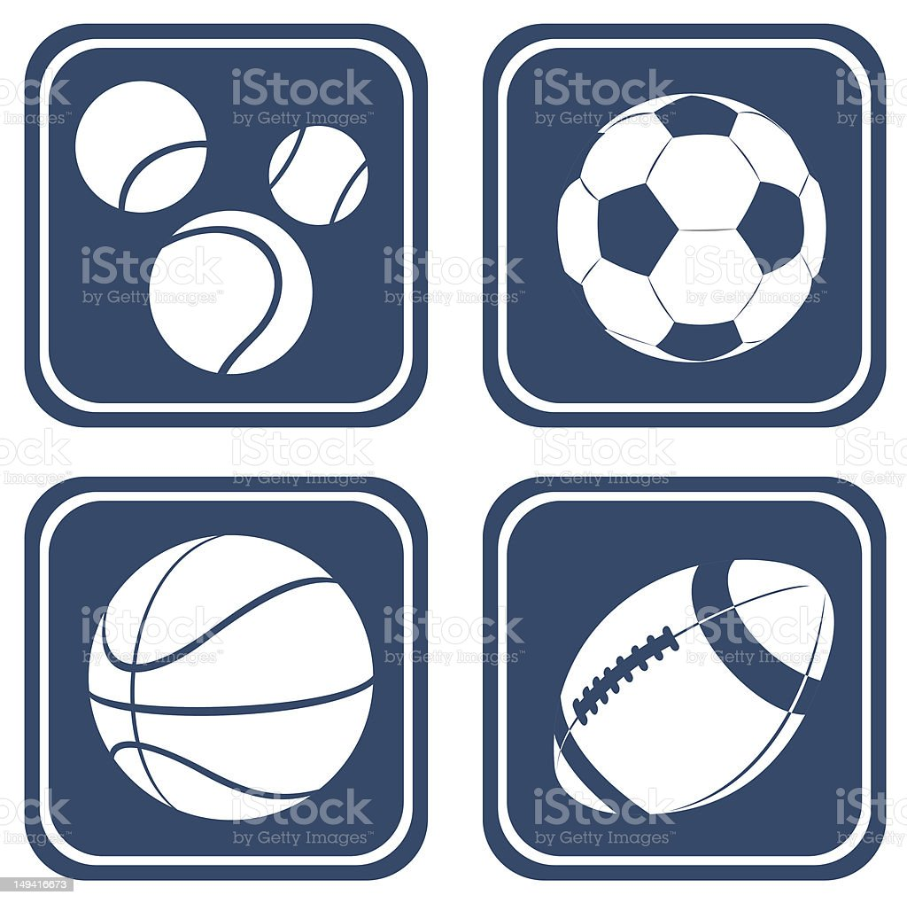 balls set royalty-free stock vector art
