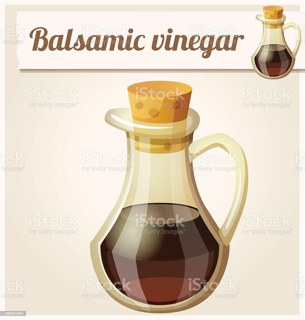 Balsamic vinegar. Detailed Vector Icon vector art illustration