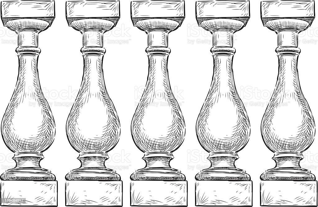 Balustrade vector art illustration