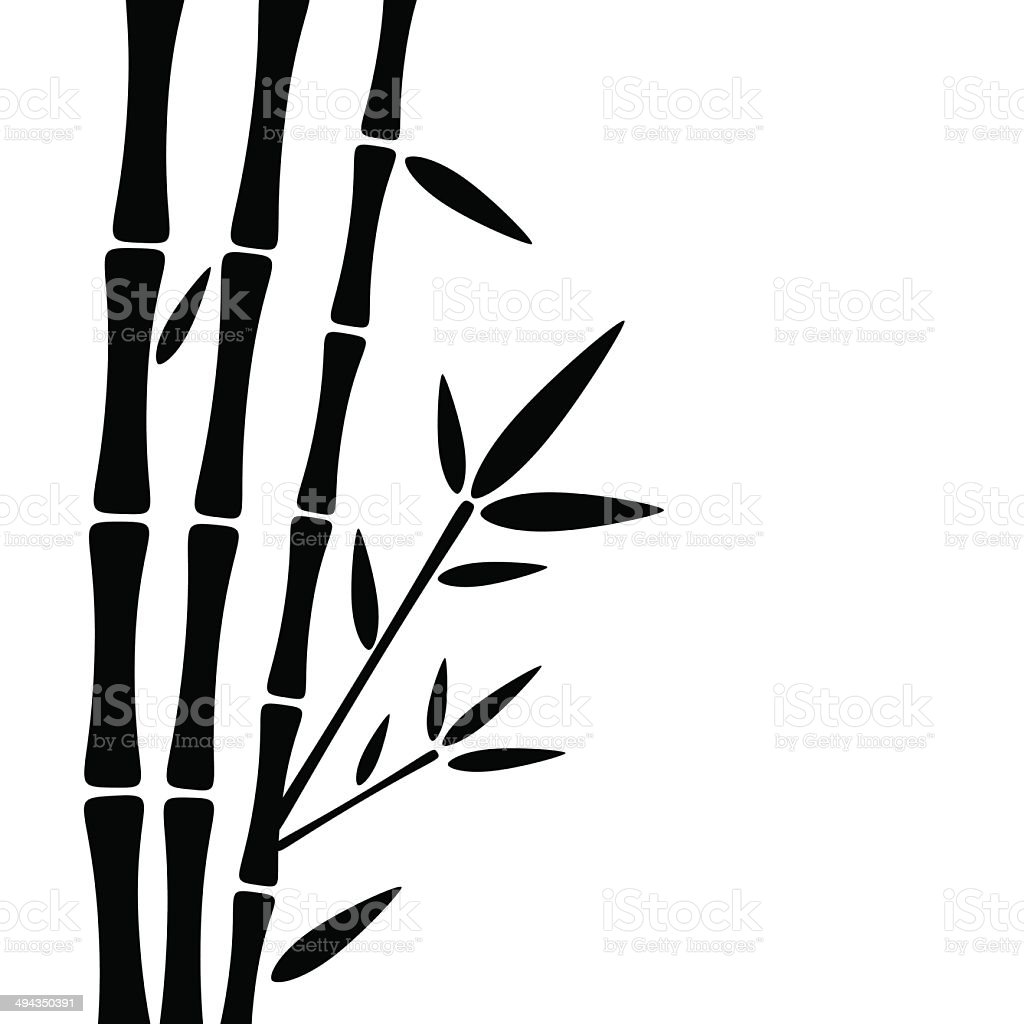 Bamboo background vector art illustration