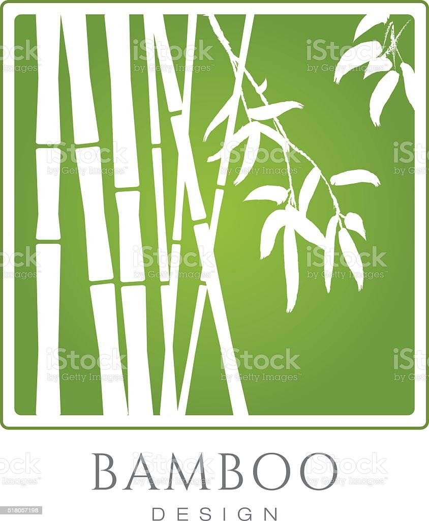 Bamboo Banner vector art illustration