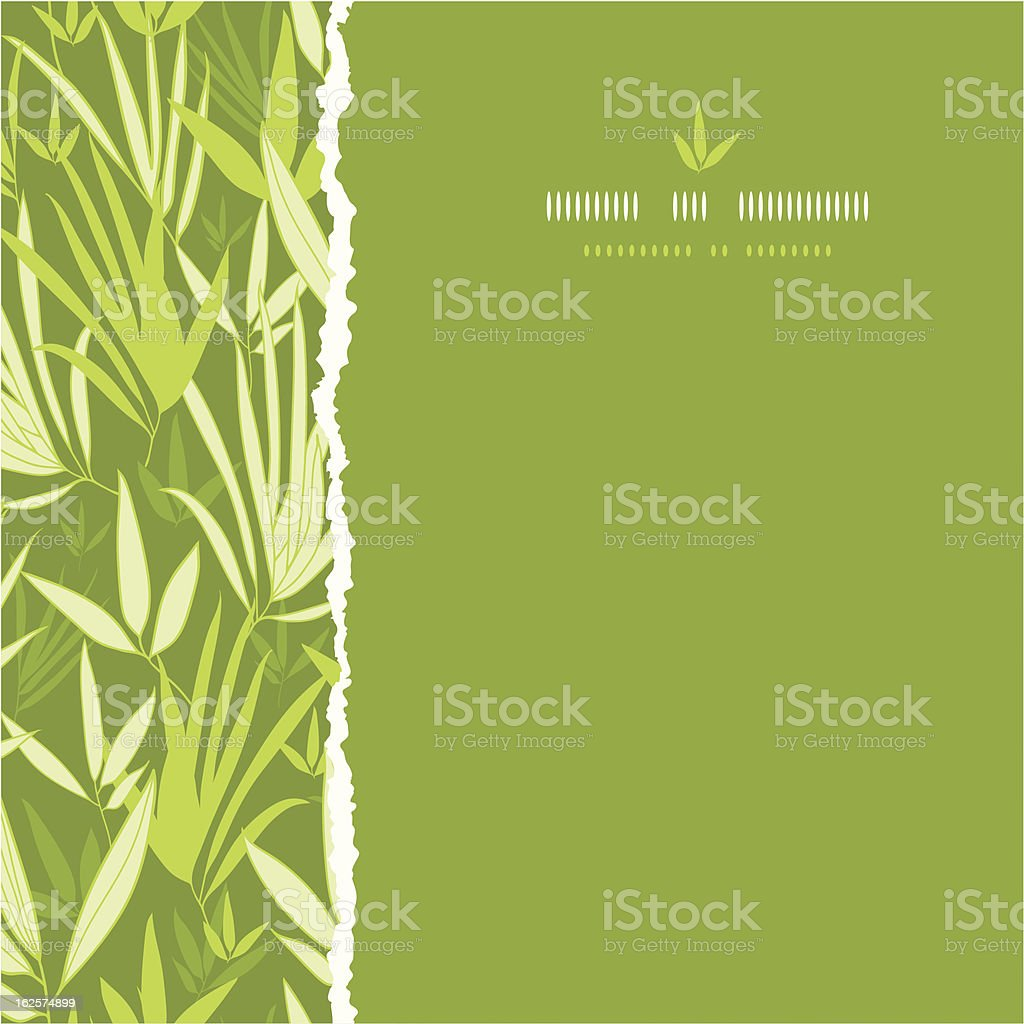 Bamboo branches torn square seamless pattern background royalty-free stock vector art