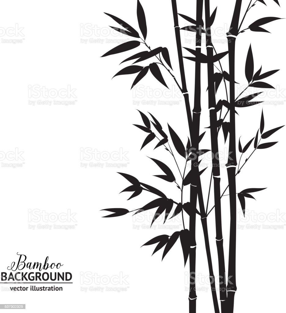 Bamboo bush vector art illustration