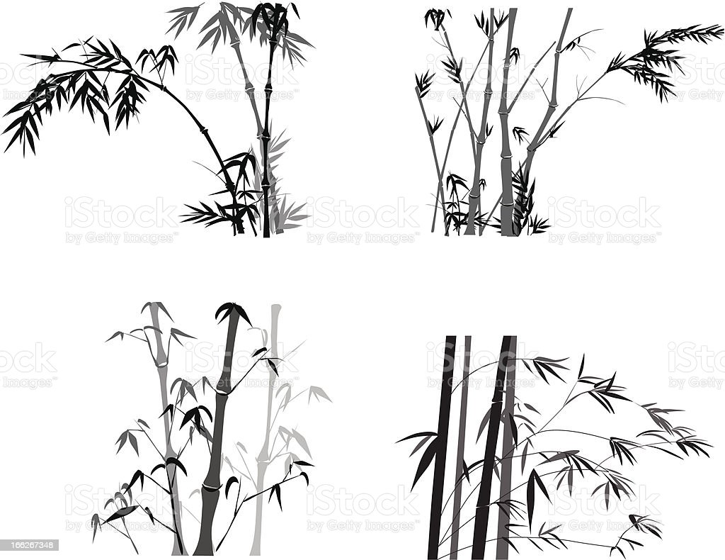 Bamboo Collection royalty-free stock vector art