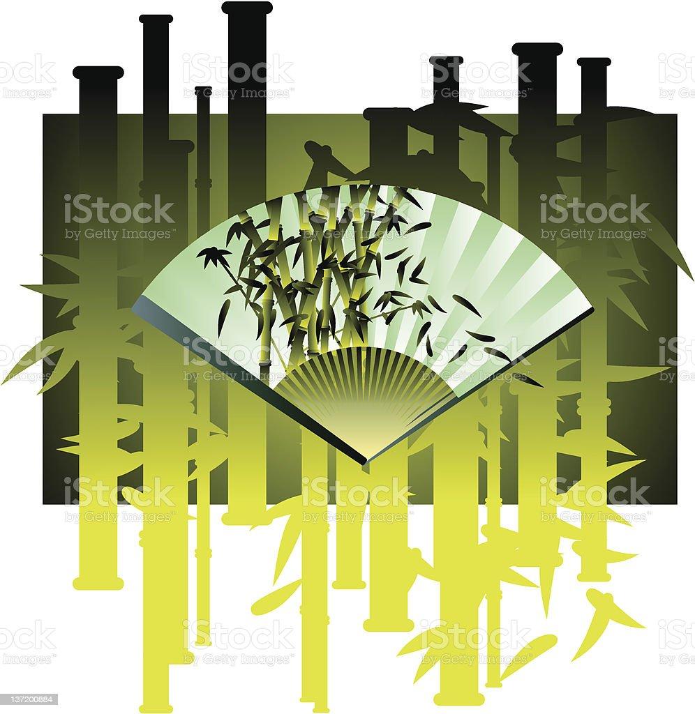 bamboo fan royalty-free stock vector art