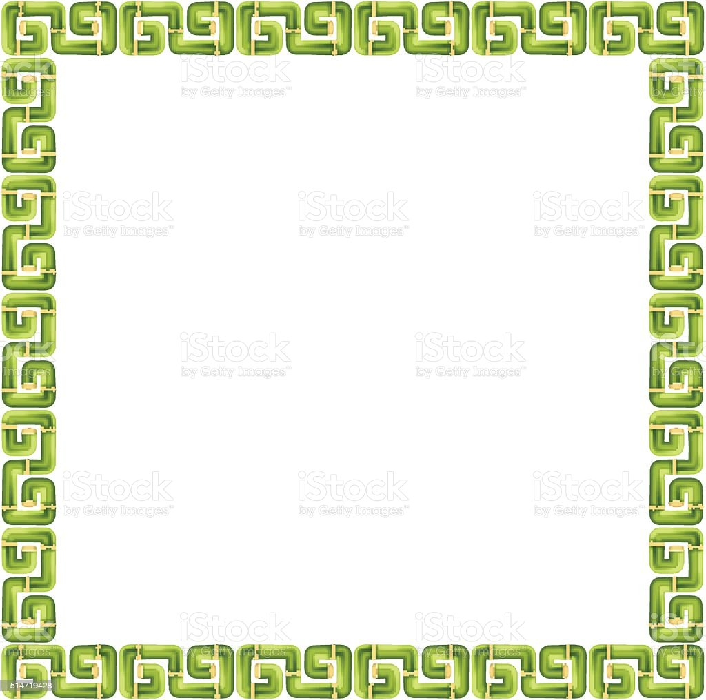 Bamboo frame and border royalty-free stock vector art
