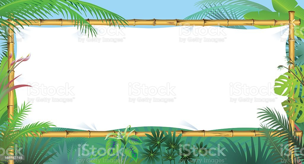 Bamboo Frame Horizontal royalty-free stock vector art