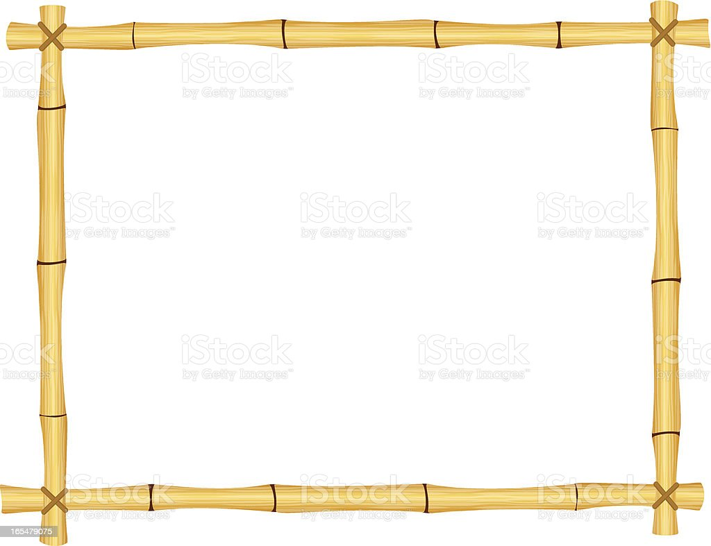 Bamboo frame. vector art illustration