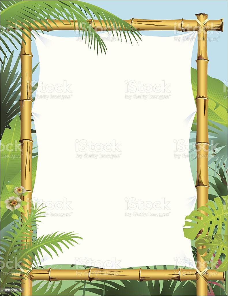 Bamboo Frame vector art illustration
