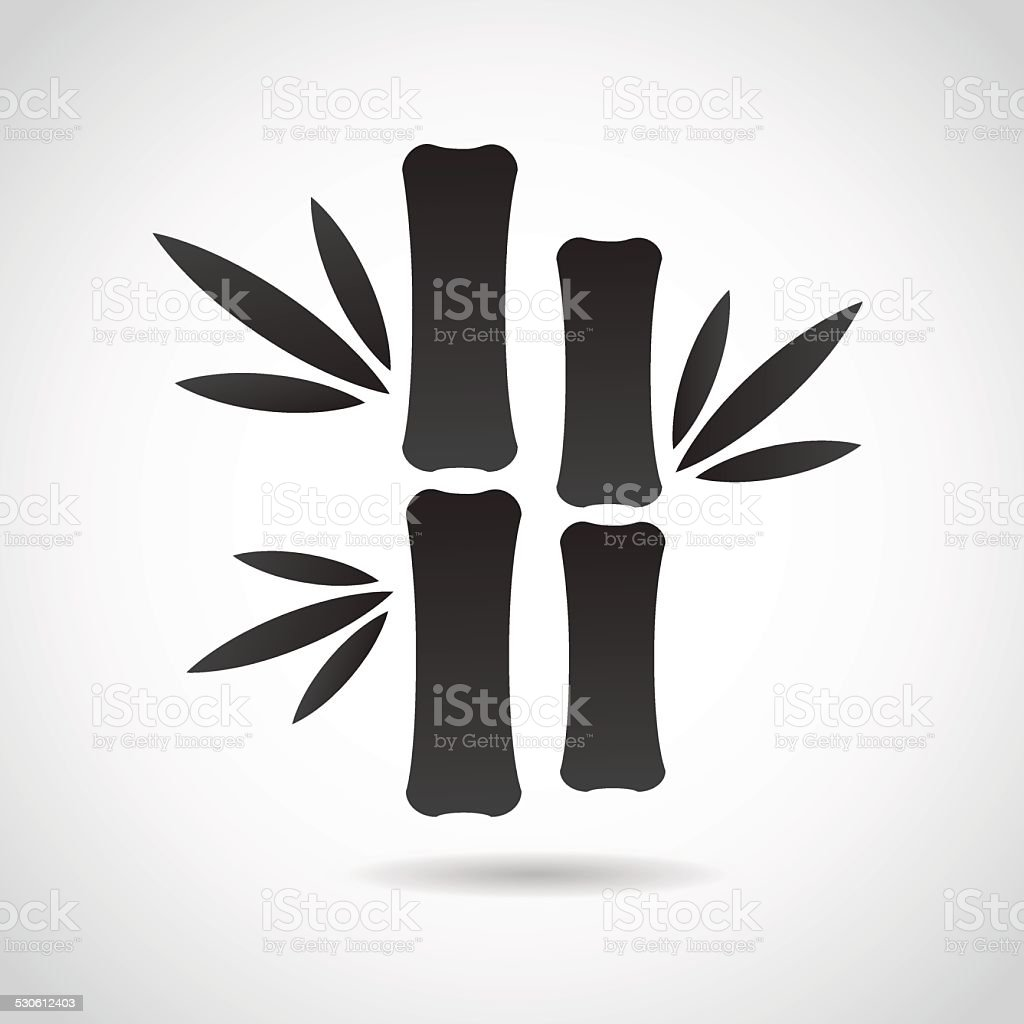 Bamboo icon isolated on white background. vector art illustration