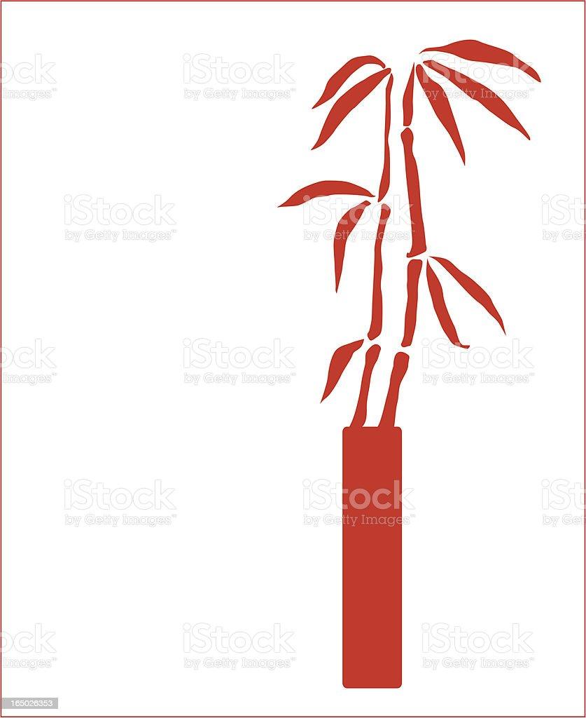 Bamboo in Modern Vase ( Vector ) royalty-free stock vector art
