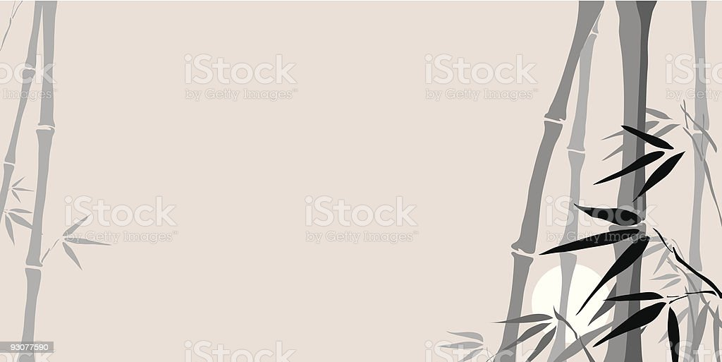 Bamboo on Sundown, vector illustration royalty-free stock vector art
