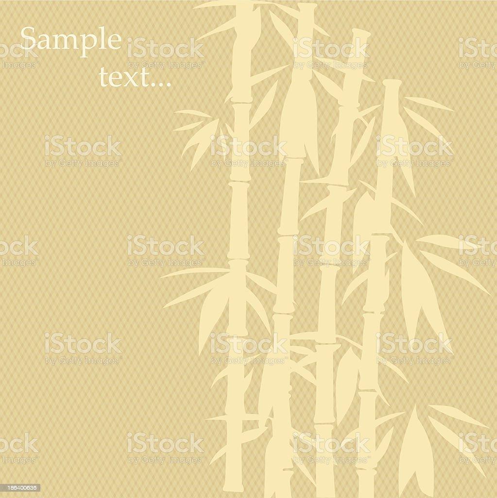 Bamboo Painting vector art illustration