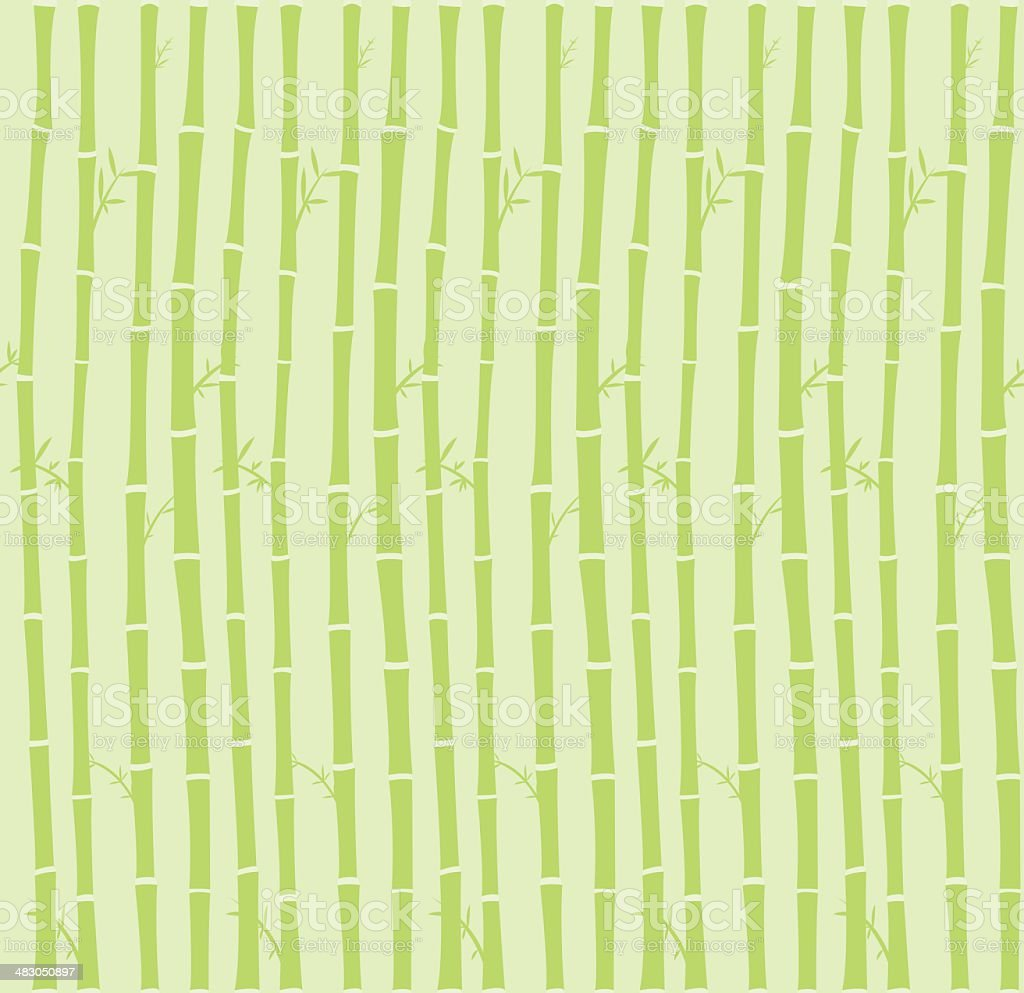 Bamboo seamless background vector art illustration
