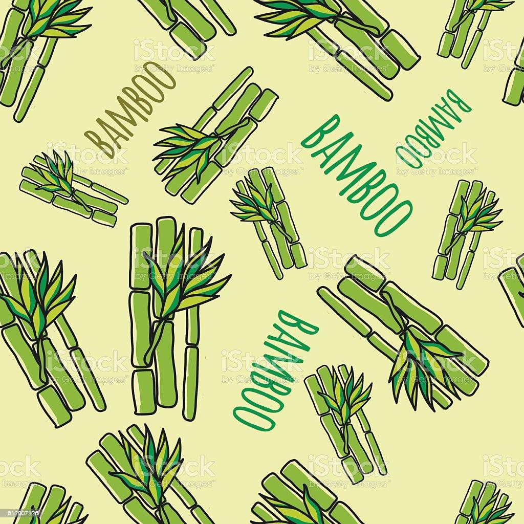 Bamboo. Seamless pattern. vector art illustration