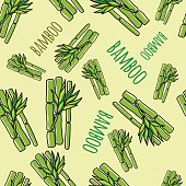 Bamboo. Seamless pattern.