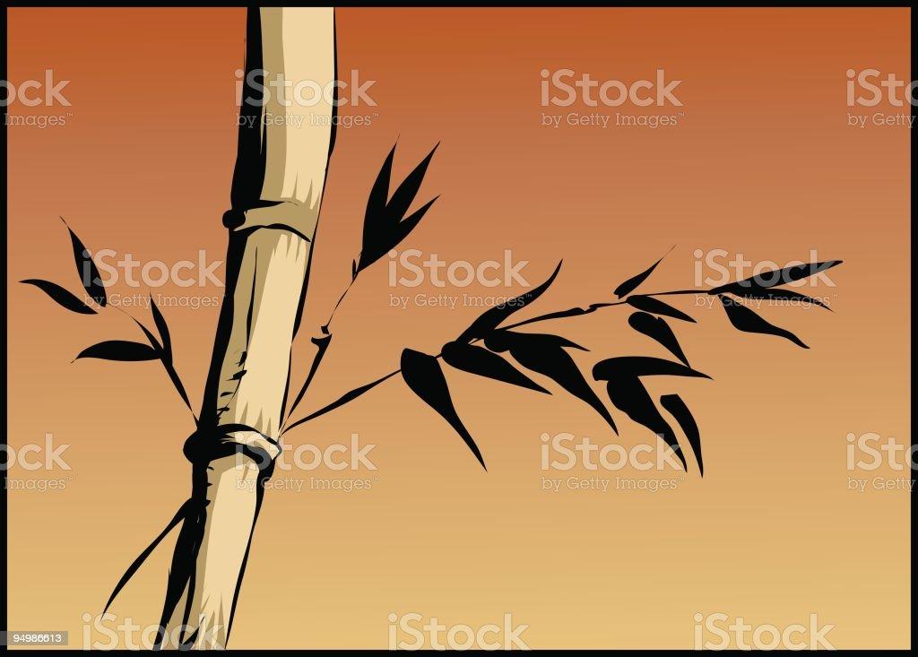 Bamboo tree vector art illustration