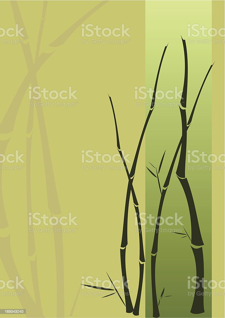 Bamboo twigs japanese style royalty-free stock vector art
