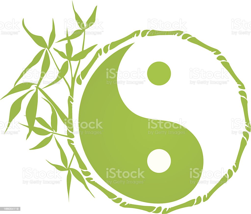 Bamboo Yin Yang vector art illustration