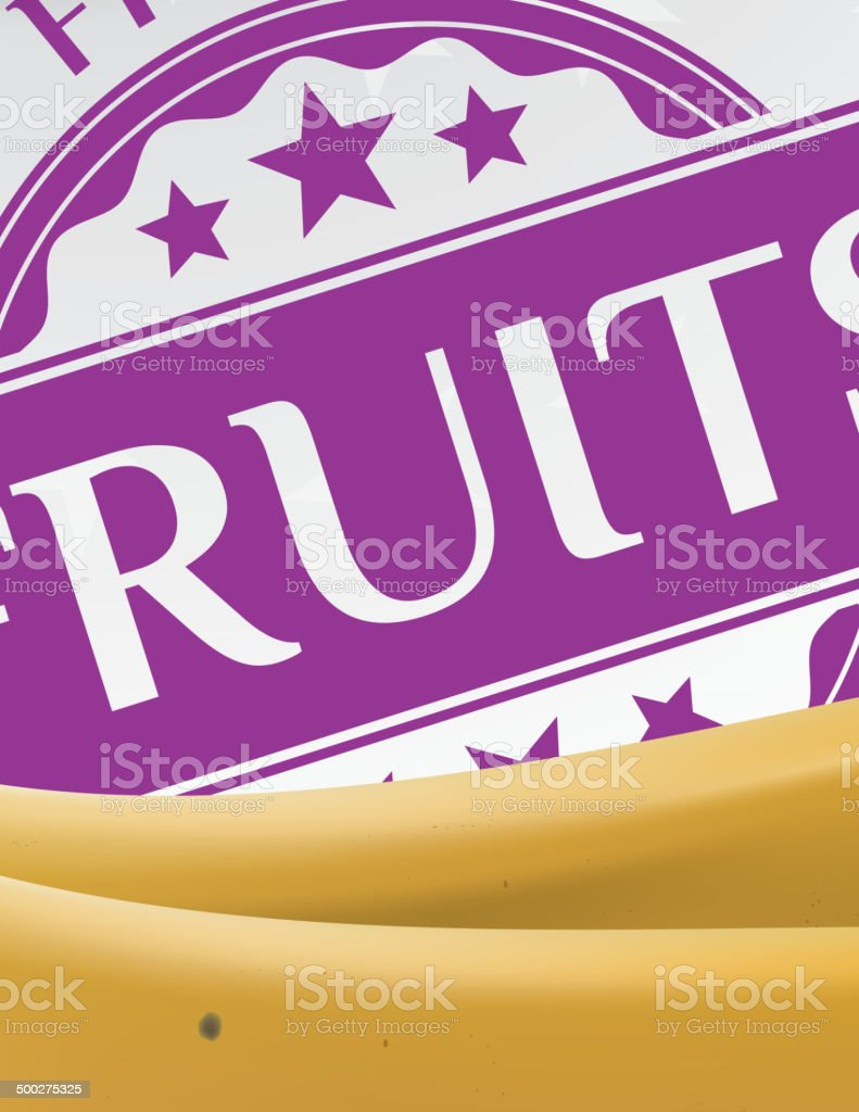 Banana and fruit sticker royalty-free stock vector art