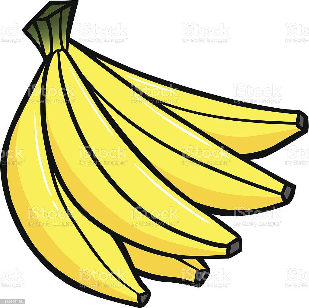 Banana Bunch royalty-free stock vector art