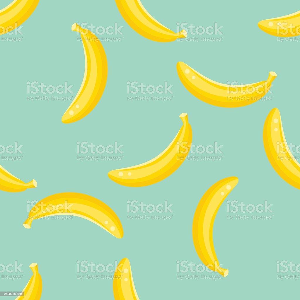Banana fruit pattern vector art illustration