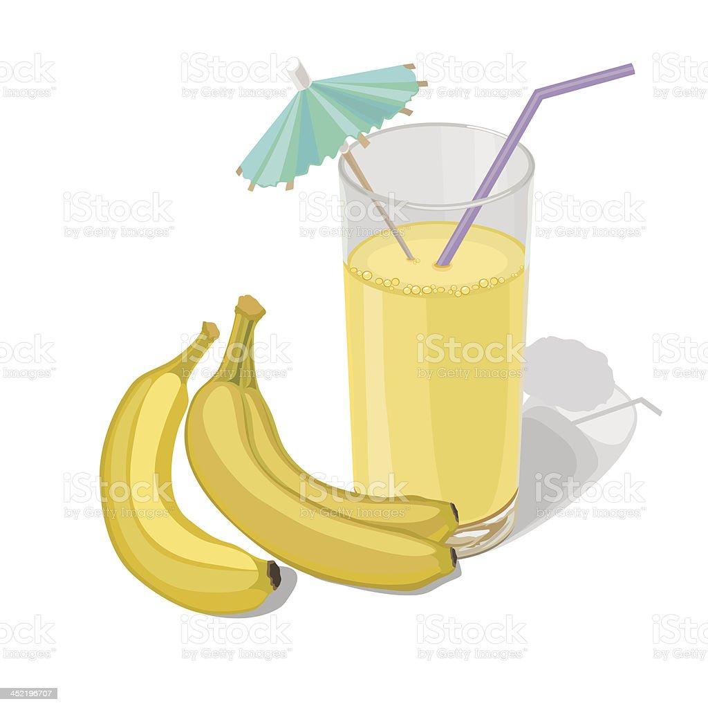 banana juice royalty-free stock vector art