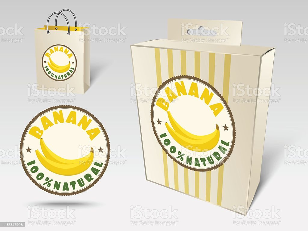 Banana label concept vector art illustration