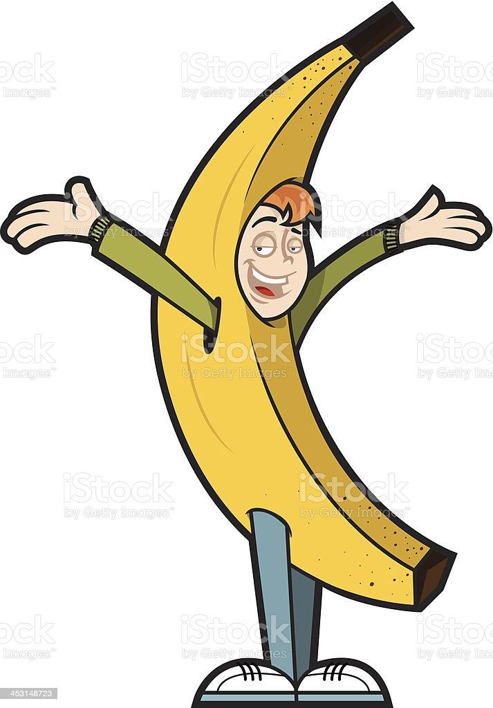 Banana man vector art illustration