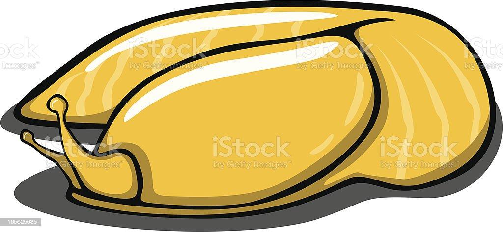 Banana Slug royalty-free stock vector art