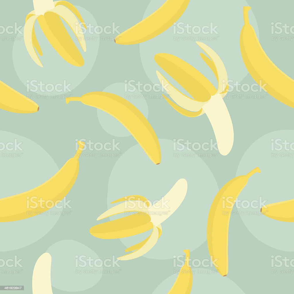 Banana sweet pattern vector art illustration