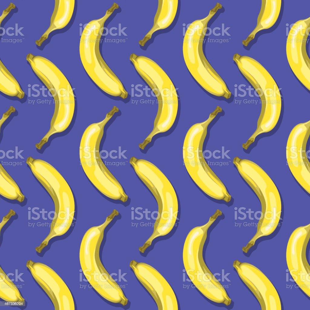Bananas (Seamless pattern pop art style) vector art illustration