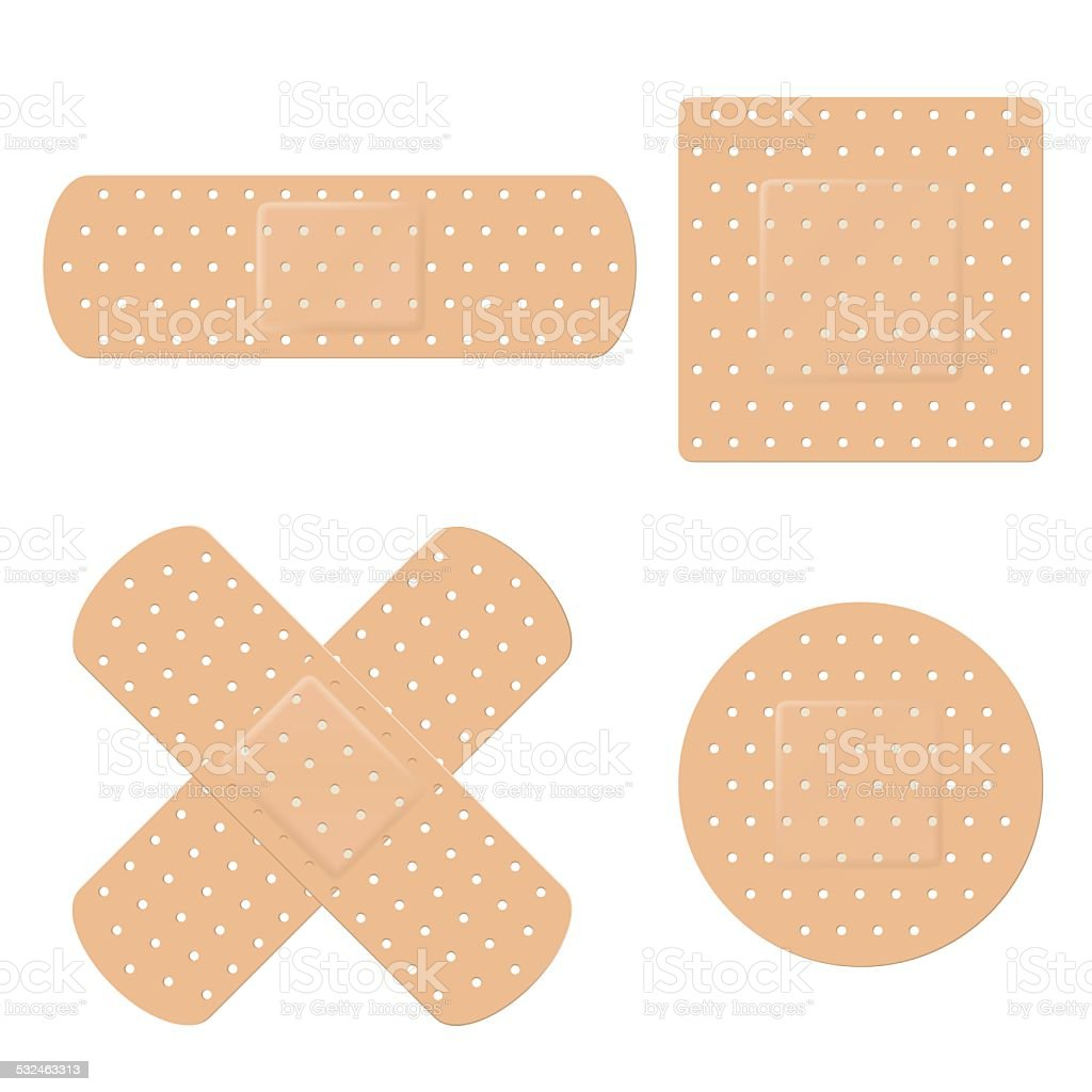 Band Aid Vector Set vector art illustration