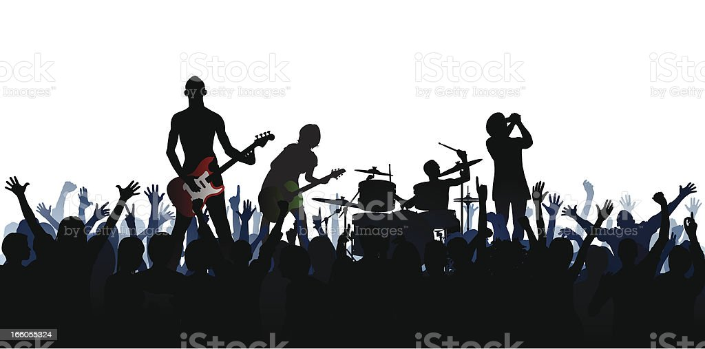 Band (61 Complete People, Clipping Path Hides the Legs) vector art illustration