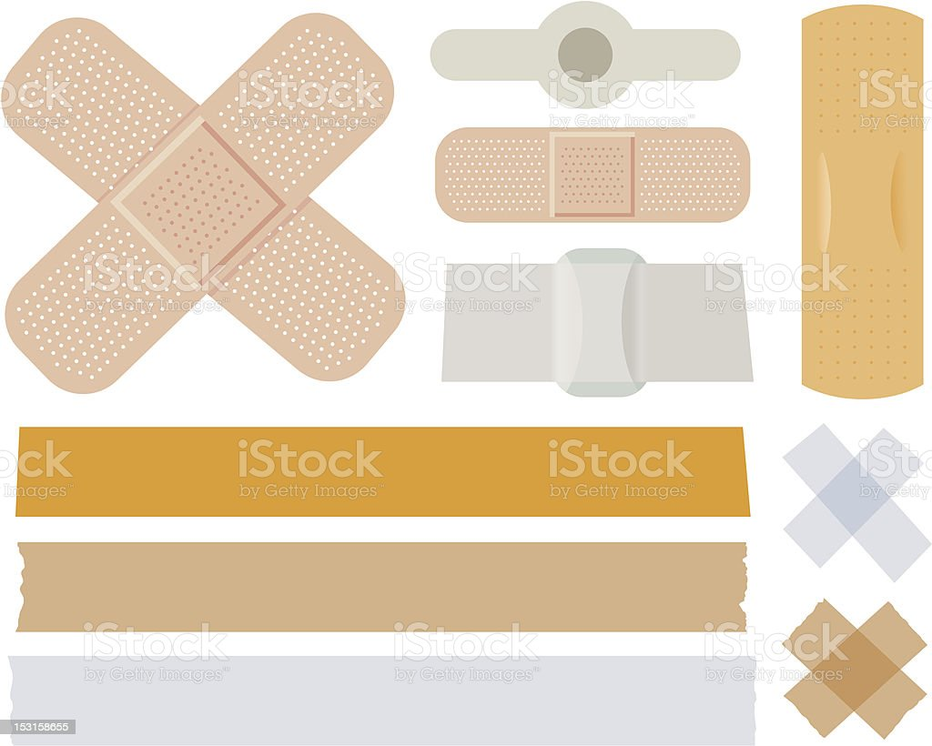 Bandages collection vector art illustration