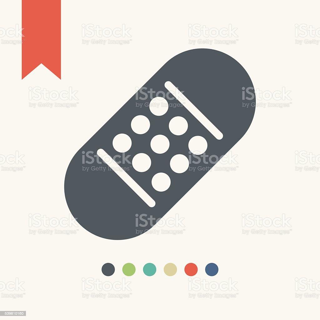 band-aid icon vector art illustration