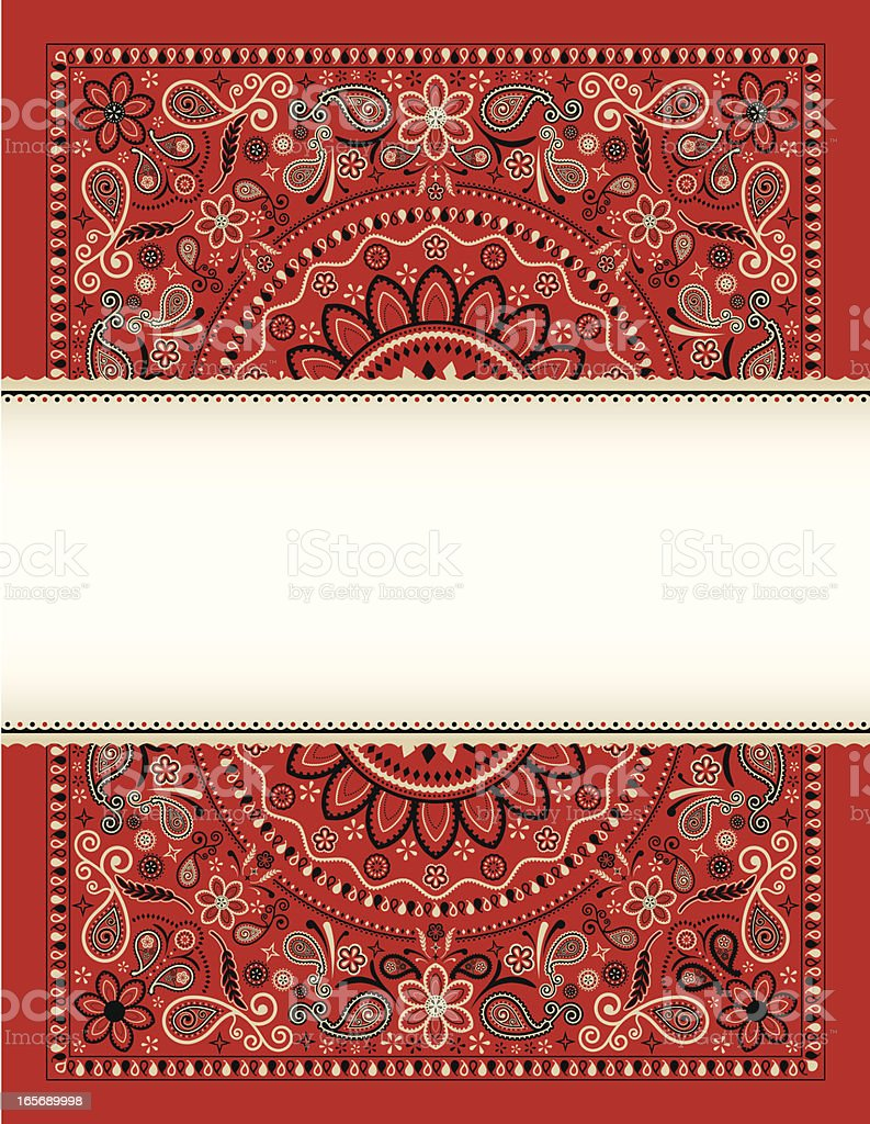 Bandana Banner royalty-free stock vector art