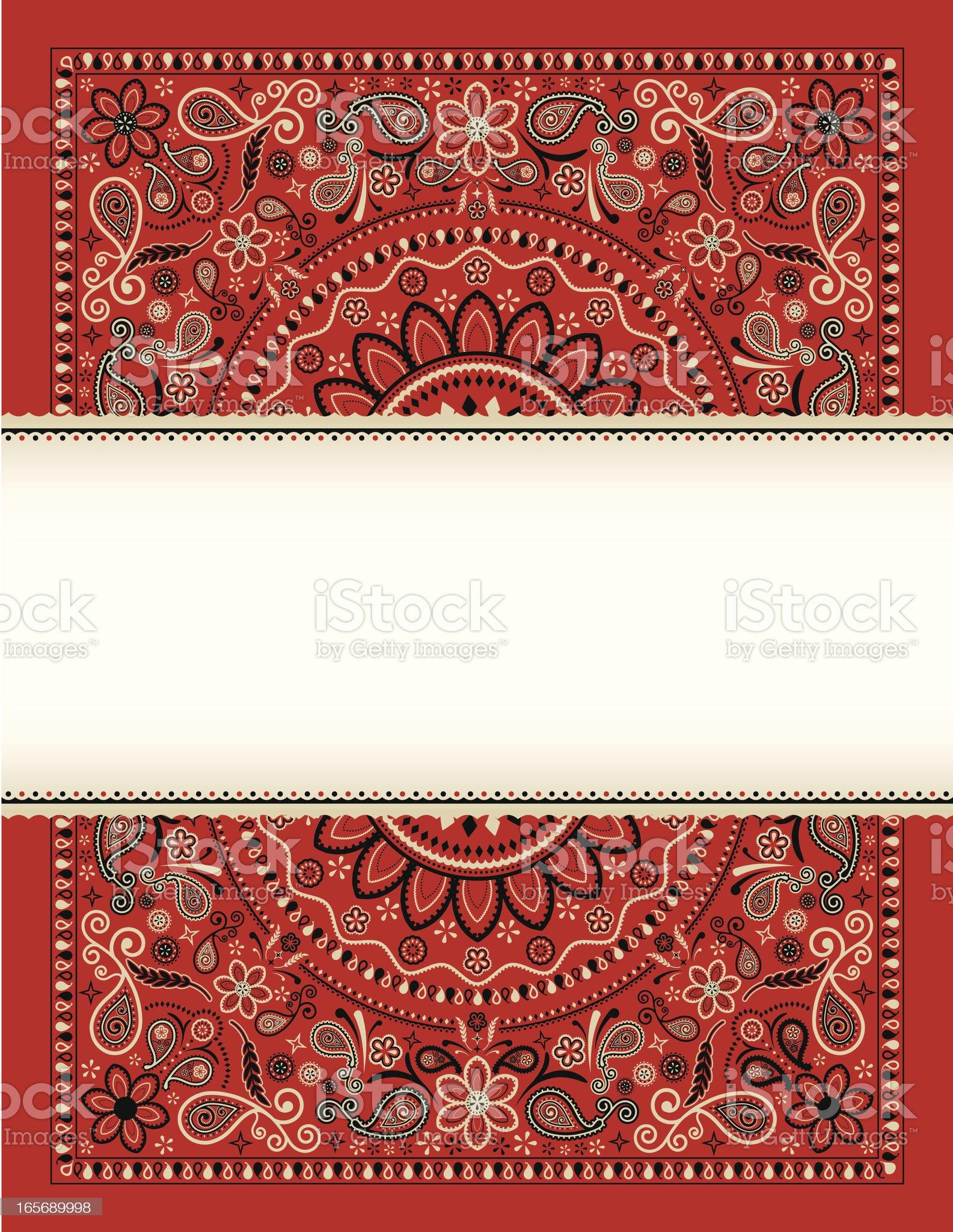 Bandana Banner royalty-free stock vector art